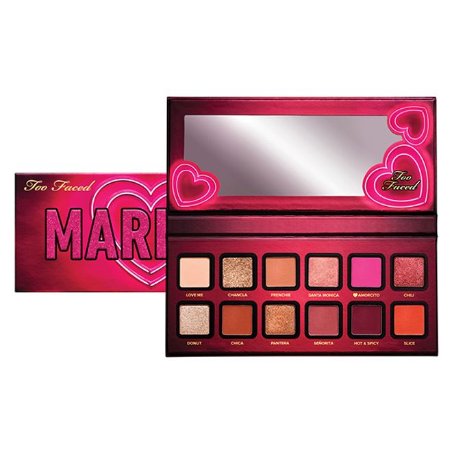 Paleta De Sombras Mariale Amor Caliente Eye Shadow Cheek Palette Blush Bar